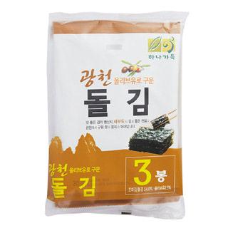 하나가득 광천 올리브유로 구운 돌김, 20g*3봉